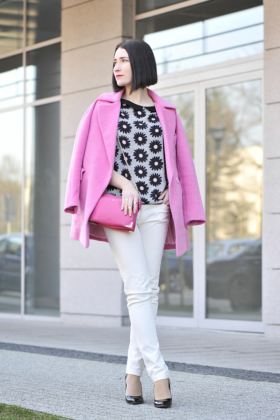 Black Blouse With White Collar