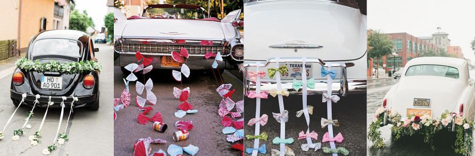 jak udekorować samochód na ślub