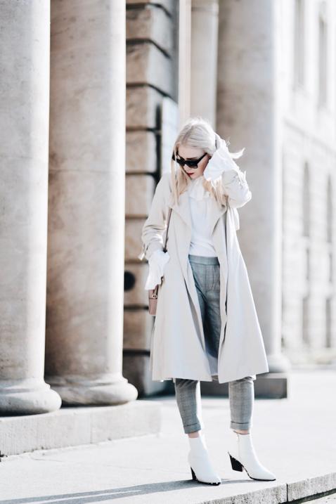 białe botki stylizacja