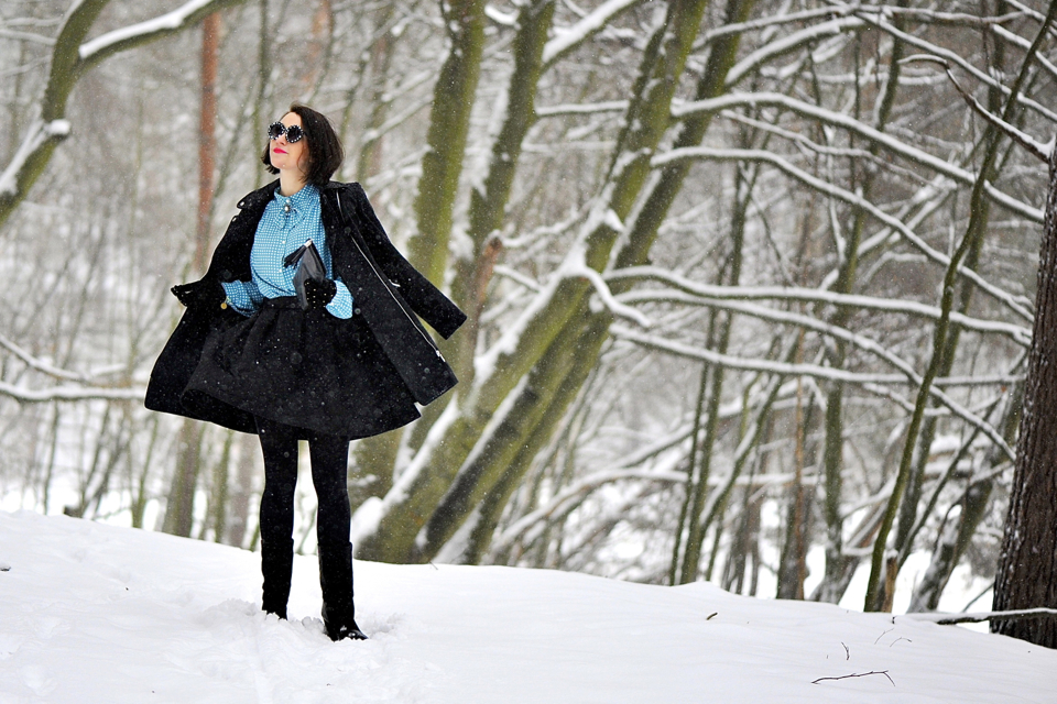 sesja w śniegu