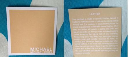 michael kors care card