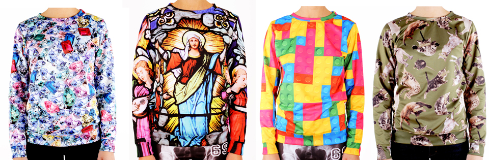 bluza z nadrukiem witraż