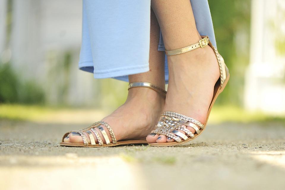 złote-sandały