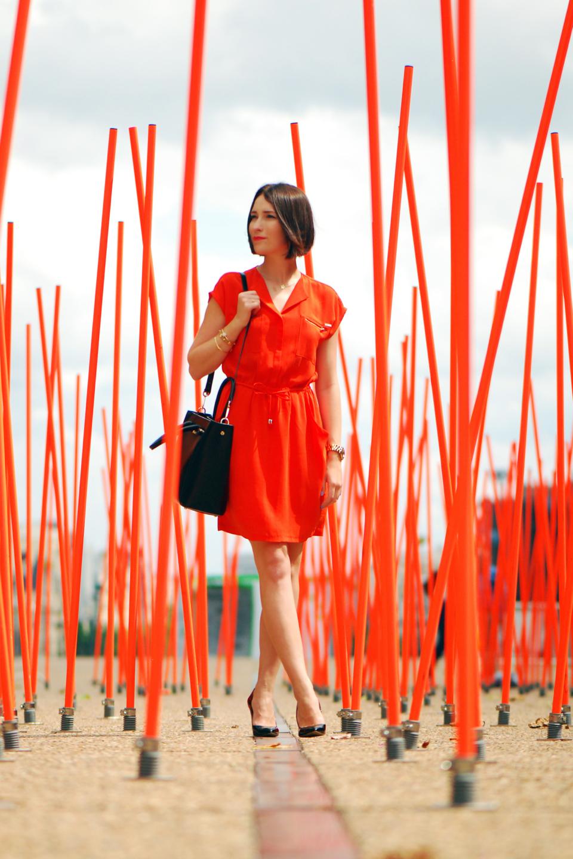 pomarańczowa-sukienka-stylizacja