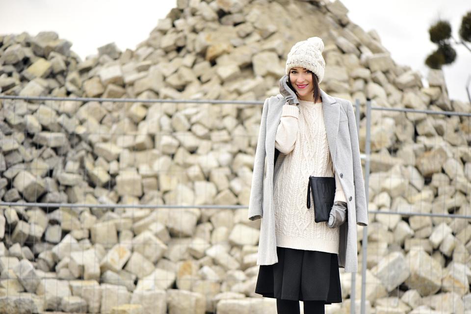 długi sweter street fashion