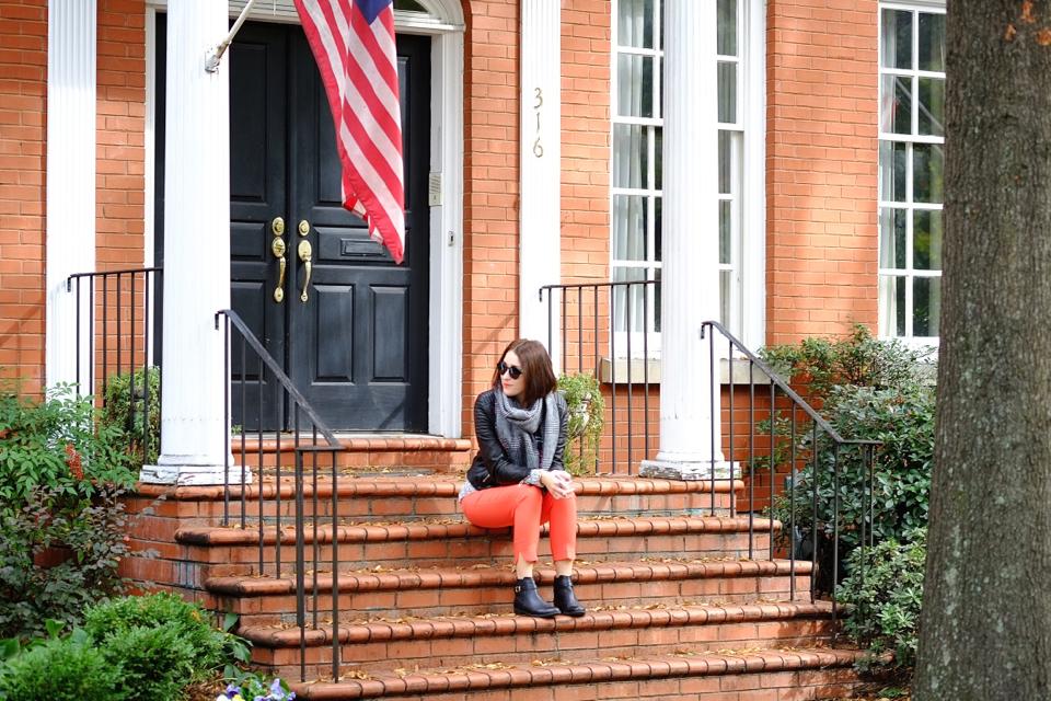 pomarańczowe-spodnie
