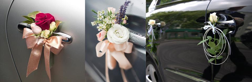 jak-ozdobić-klamki-ślubnego-samochodu
