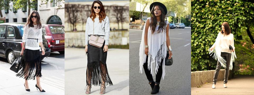 ubrania z frędzlami stylizacje