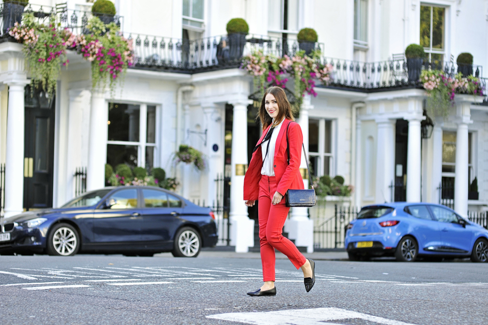 red-suit-street-style