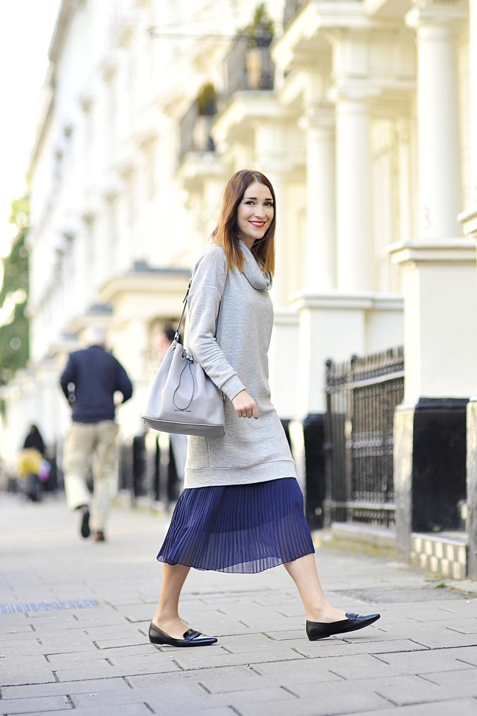 plisowana spódnica jak nosić 04 Shiny Syl blog