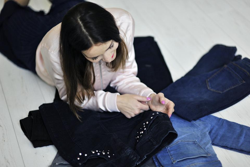 jak przerobić jeansy diy
