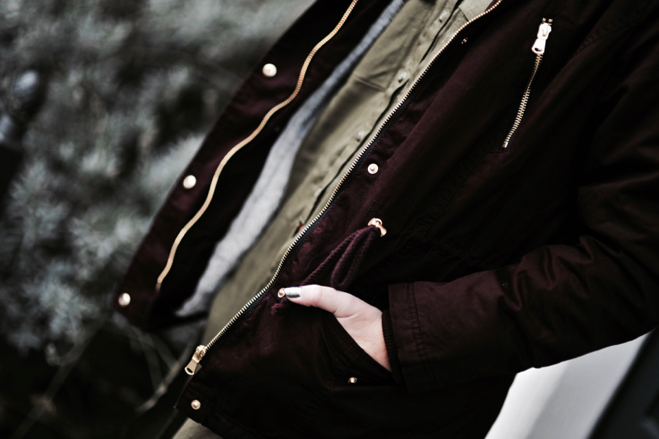 burgundy-parka-what-to-wear-with