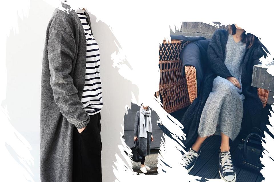 do-czego-nosić-długi-sweter