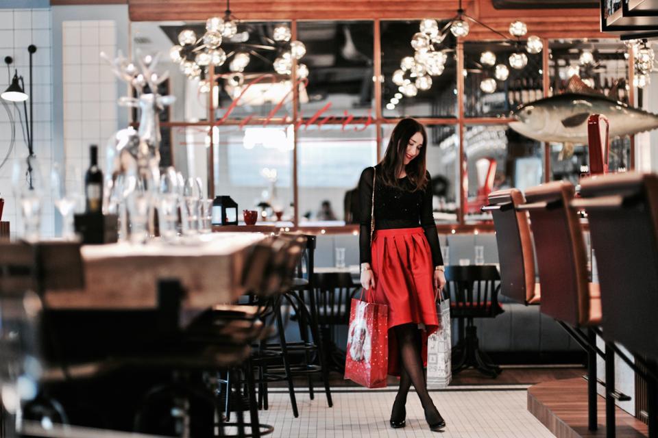 czerwona-rozkloszowana-spódnica-jak-się-ubrać-na-święta