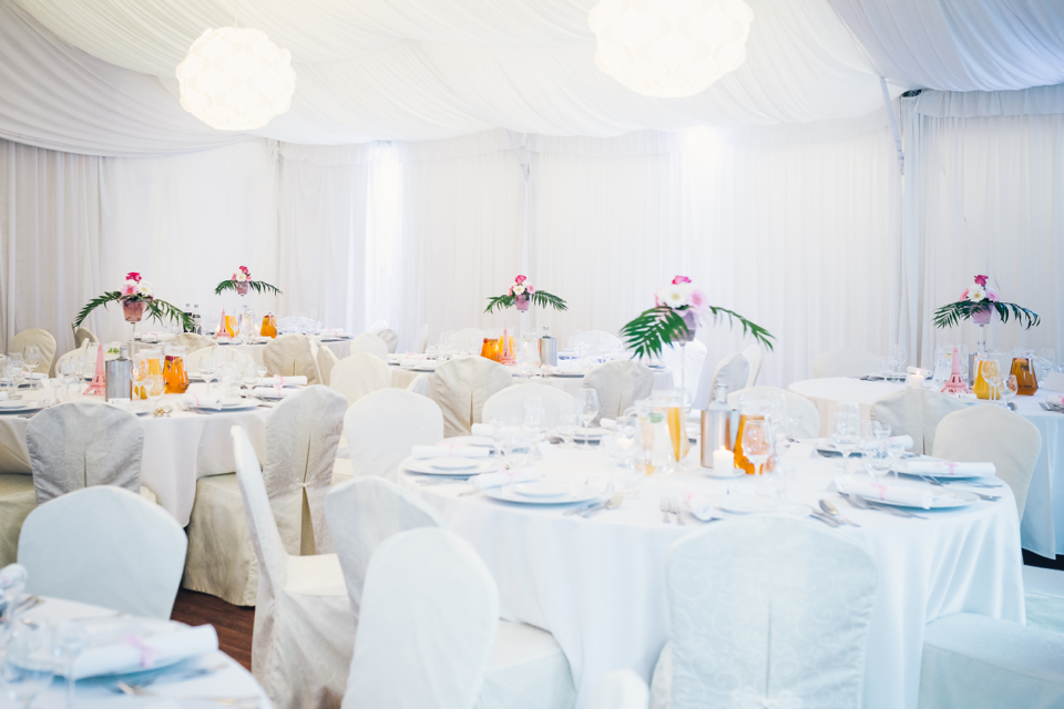 round or rectangle wedding tables