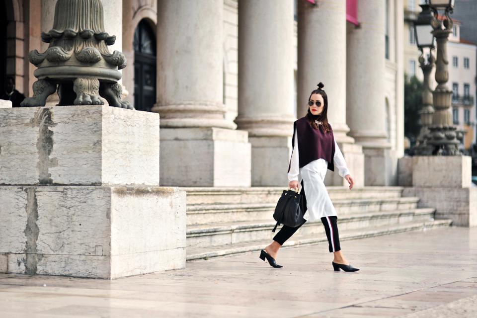 Side Stripe Pants Outfit Shiny Syl Blog