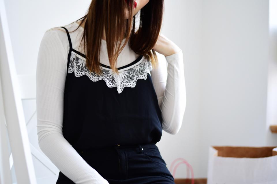 bluzka-na-ramiączkach-na-bluzkę-z-długim-rękawem-stylizacja
