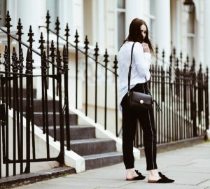 spodnie z lampasami jak nosić