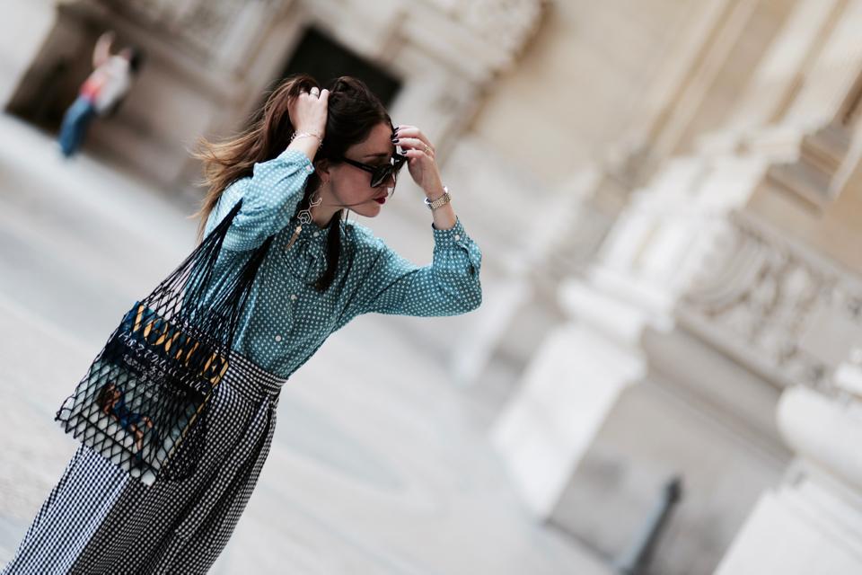 spodnie w kratę vichy stylizacja jak nosić