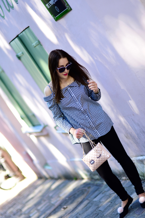 kratka-gingham-stylizacja-jak-nosić