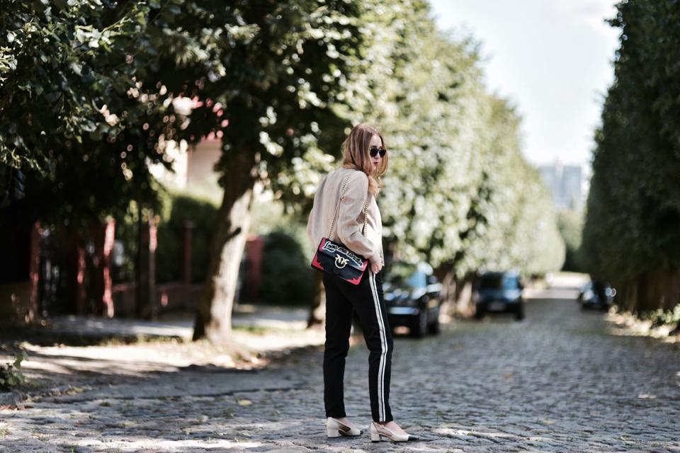 spodnie z lampasami stylizacja
