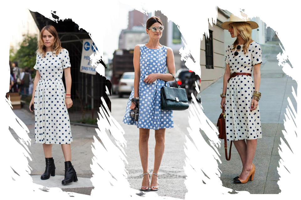 polka-dot-dress-outfit-idea-street-fashion