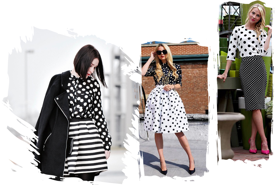 polka-dot-skirt-outfit-idea-street-fashion