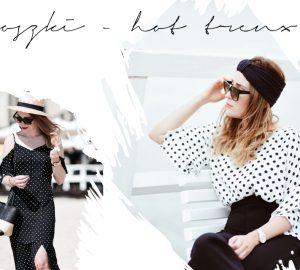 ubrania w groszki stylizacje hot trend