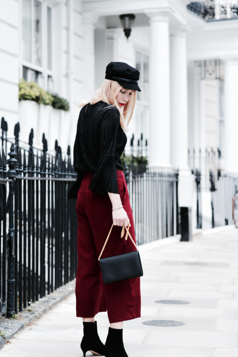 ruffled-shirt-culottes-kitten-heels-boots-street-style-outfit