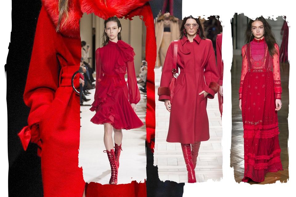 red total look czerwień od stóp do głów stylizacja