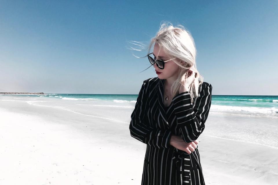 garnitur-damski-w-paski-jak-nosić-stylizacja