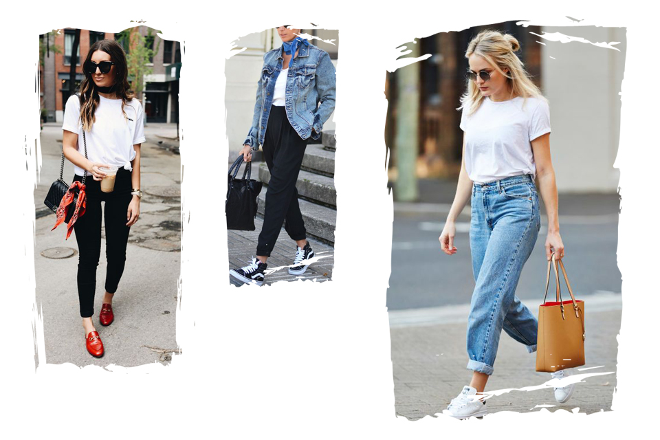 biała-koszulka-bluzka-pomysły-na-stylizacje-jak-nosić