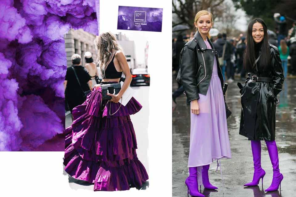 jakie kolory pasują do fioletowego stylizacje kolor fioletowy do czego pasuje do jakich ubrań nosić z czym łączyć