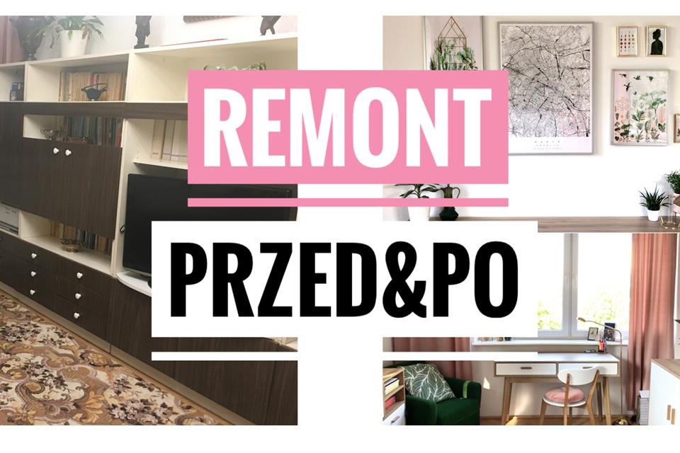metamorfoza pokoju przed i po remont blog