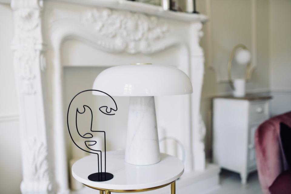 lampa glossy marmurowa grzybek - 1